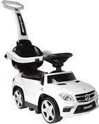 Best Ride On Cars 4 In 1 Mercedes Pc White One Size Stroller Push Or Pedal