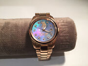 Watch Montre U. S. Polo Assn. 1 3/8in Golden Steel - Motherpearl And Crystals