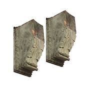 Pair Of Antique Copper Corbel Brackets From Prestigious Nyc Building
