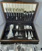 54 Pieces Stately By State House Sterling Silver Flatware Set With Original Box