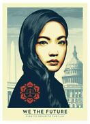 Shepard Fairey We The Future Rewrite Law Nguyen /75 Signed Large Obama Trump