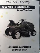 Noma Murray E3912 Lawn Tractor 12 Hp And 39 Mower Deck Owner And Parts Manual