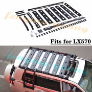 Fits For Luxes Lx570 2008-2020 Luggage Basket Rack Frame Cargo Manganese Steel