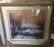 Large Thomas Kinkade Limited Edition Paper Lithograph - Victorian Christmas Ii