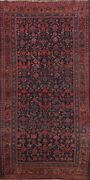 Antique Geometric Bidjar Hand-knotted Area Rug Traditional Oriental Carpet 4and039x8and039