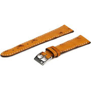 20mm Colareb Melbourne Chestnut Ostrich Leather Quick Release Watch Band Strap