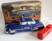 Wells / Brimtoy Welsotoys No 141 Police Car Battery Operated B0xed