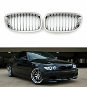 Car Front Fence Grill Grille Chrome Mesh For Bmw E46 2 Doors 03-05 3 Series Usa