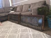 1920s Antique Leaded Glass Window Set Architectural Salvage With Clear Glass.