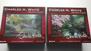 Nos Sealed Pressman Jigsaw Puzzles, Charles H. White 750 Pieces Lot Of 2