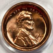 1964 Pcgs Ms66rd Deep Obverse Die Cap Lincoln Cent Mint Error Amazing Type Coin