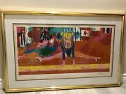 Leroy Neiman Olympic Gymnast Signed And Numbered Original Serigraph Print W/coa