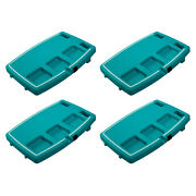 Stupid Car Tray Multi Function Food And Drink Travel Organizer, Teal/mint 4 Pack