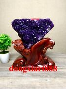 30 Cm Natural Amethyst Crystal Lucky Feng Shui Specimen Energy Heal Statue F211