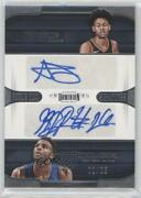 2018 Dominion Dual Signatures /25 Mitchell Robinson Anfernee Simons Rookie Auto