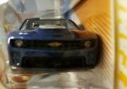 Hot Wheels Camaro Zl1 Blue Variation From Sema With Headlights And Chevy Symbol