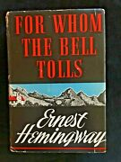 First Edition 1st Print Hemingway For Whom The Bell Tolls 1940 A No Photo Credit