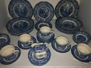 Liberty Blue Staffordshine Independence Hall Dishes