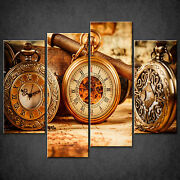 Pocket Vintage Watches Cascade Canvas Wall Art Print Picture Ready To Hang