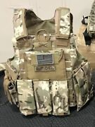 Multicam Tactical Vest Plate Carrier- Adjustable. Pouches Included