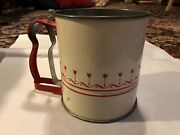 Androck Vintage Flour Sifter Red Tulips And Stripes And Uniforn Nut Meat Chopper