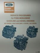 Ford 201 256 401 Diesel Major Service Procedures Training Manual 5000 Tractor