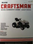 Sears Craftsman 42 5-speed 18 H.p. Lawn Tractor Owner And Parts Manual 917.254860