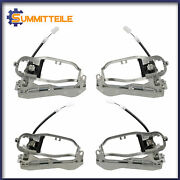 Set Of 4 Front Rear Lh+rh Outside Door Handle Carriers For 2000-2006 Bmw E53 X5