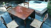 Vintage Furniture Set - 4 Hitchcock Chairs - Nichols And Stone W/ Butterfly Table