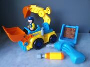 Euc Build And Play Take Apart Excavator Backhoe Tractor Toy With Electric Drill