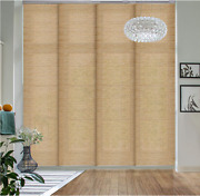 Deluxe Adjustable Sliding Panel Track Blind 45.8- 86 W 96 H, In Pecan Color