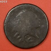 1793 Vine/bars Flowing Hair Wreath Reverse Large Cent Free S/h After 1st Item