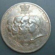 1897 Victoria Diamond Jubilee Four Generations Of The British Royal Family Medal