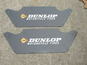 Nos Dunlop Motorcycle Tire Store Display Stand Sign