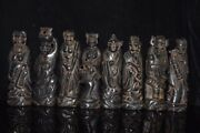 9.8 Old Neolithic Age Hongshan Culture Meteorite Handmade Eight Diagrams Statue
