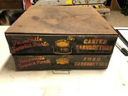 Rare Early Vintage Carter Ford Carburetor Cabinet Model A T Car Truck Old Signs