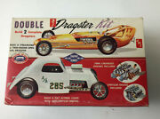 Amt Double Dragster 1/25 Scale Model Kit No.t-161 200 Complete Open In Box