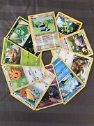 Pokemon Card Lot 10 Official Cards - Mixed Health Including One Holo Card