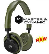 Master And Dynamic Mw50 On/over-ear Wireless Bluetooth Leather Headset Olive -new
