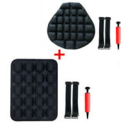 Motorcycle Front Rear Seat Shock Absorption Inflatable Cushion Pressure Release