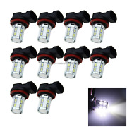 10x White Auto H11 Front Lamp Tail Light 13 12 X 5630 Smd+ 1 Cree Led H209