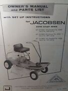 Jacobsen Olympic 400 500 530 Lawn Riding Mower Tractor Owner And Parts Manual