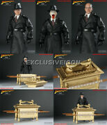 Hot Sideshow Toys Indiana Jones 1/6 Major Arnold Toht W/ Ark Of The Covenant Ex