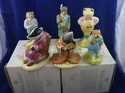 Beswick Wind In The Willows Series Weasel Gamekeeper Portly Toad Mole Badger