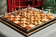 Avant Garde Series Luxury Chess Pieces - 4.4 King - Natural Boxwood And Zebrano