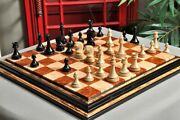 Avant Garde Series Luxury Chess Pieces - 4.4 King - Genuine Ebony And Olive Ash