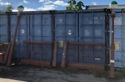 New York City Transit Nyc Mta Subway Entrance Gate With Posts And Globes