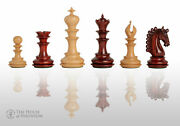 The Waterford Luxury Chess Set - Pieces Only - 4.4 King - Blood Rosewood