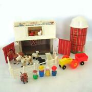 Vtg Fisher Price Little People Farm Barn Play Family Set 915 Hex Screw Complete