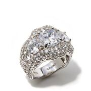 Hsn Jean Dousset 9.42ct Absolute Cushioncut Pav Band Ring Size 6 319.98